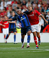 Photo: Steve Bond/Richard Lane Photography. Nottingham Forest v Sunderland. Pre Season Friendy. 29/07/2008. El Hadji Diouf (L) and Kelvin Wilson (R) tangle