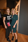 CHARLOTTE DAWNAY; RACHEL JOHNSON, Exhibition opening of paintings by Charlotte Johnson Wahl. Mall Galleries. London, 7 September 2015.