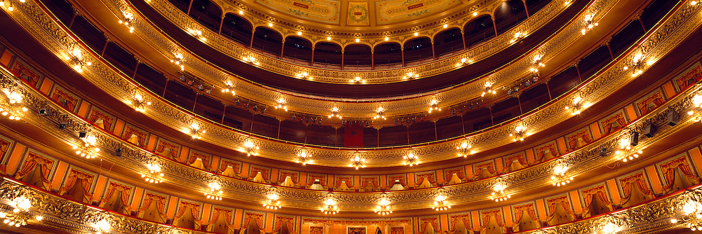 ARGENTINA, BUENOS AIRES The Colon Theatre, seven story interior