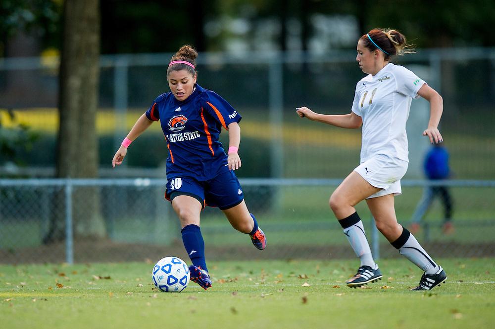 Oct 23, 2013; Morrow, GA, USA; Clayton State women's soccer player Jency Ramirez against Georgia Southwestern at CSU. CSU won 4-0. Photo by Kevin Liles/kevindliles.com