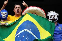 Torcida brasileira o jogo entre Brasil e Argentina nos jogos Pan-Americanos de Guadalajara 2011. FOTO: Jefferson Bernardes/Preview.com