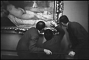 Gallery Attendants in front of Titian,  Uffizi Art Gallery, Florence, Italy<br /> 1976