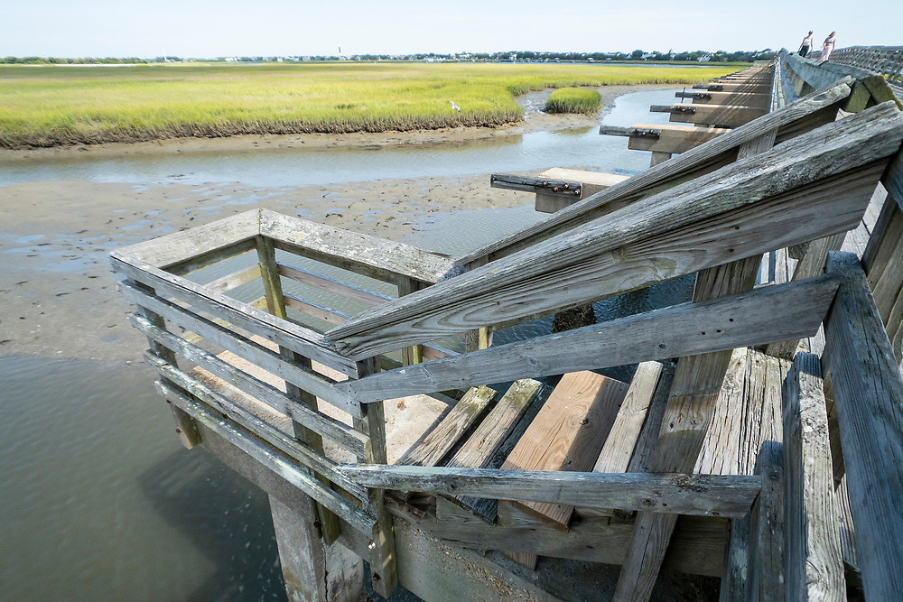 Perfect places for fishing at Pitt Street Bridge, a local park on a former highway bridge, in Mount Pleasant, South Carolina on Wednesday, June 24, 2020. Copyright 2020 Jason Barnette