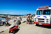 Ice cream truck at Paine's Creek Beach, Brewster, Cape Cod, MA, USA