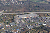 Aerial photo of Wal-Mart and Sam's Club in Rivergate on Black Friday.
