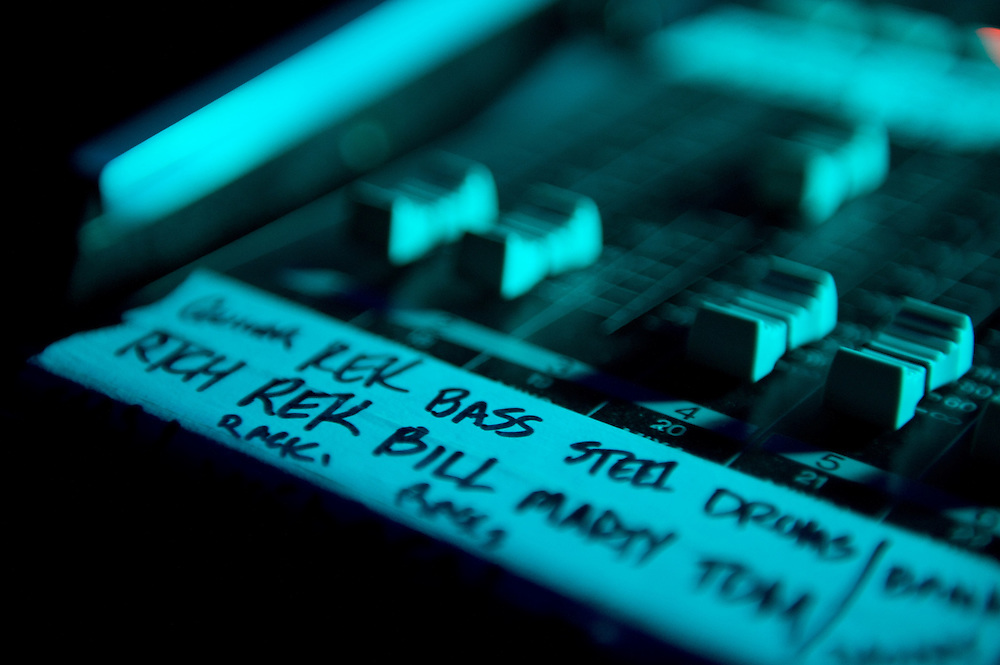 Monitor board detail. Robert Earl Keen and the Robert Earl Keen Band live in concert at the House of Blues in Houston, Texas on Sunday, December 28 2008. Photograph © 2008 Darren Carroll