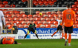 Alloa Athletic's Alan Trouten (10) scoring their goal. half time : Dundee United 1 v 1 Alloa Athletic, Scottish Championship game played 7/12/2019 at Dundee United's stadium Tannadice Park.