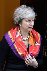 © Licensed to London News Pictures. 28/11/2016. London, UK. British Prime Minister Theresa May leaves 10 Downing Street. Photo credit : Tom Nicholson/LNP