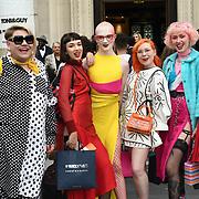 Jamie Windust attend Fashion Scout - SS19 - London Fashion Week - Day 2, London, UK. 15 September 2018.