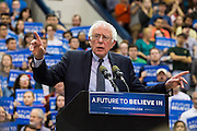 Presidential hopeful Bernie Sanders speaks to a crowd of more than 6,600 at Penn State's Rec Hall one week before Pennsylvania's primary election.