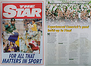 All Ireland Senior Hurling Championship - Final,.01.09.1996, 09.01.1996, 1st September 1996,.01091996AISHCF, .Wexford v Limerick,.Wexford 1-13, Limerick 0-14,.The Star,