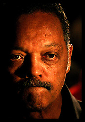 April 22nd, 2006. New Orleans, Louisiana. Voting day. The Rev Jesse Jackson at Mayor Nagin's after party following news that Nagin has secured a place in the run off election to be held May 20th.