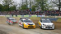 MOTORSPORT - MISCS 2010 - EUROPEAN RALLYCROSS CHAMPIONSHIP - KERLABO-COHINIAC - 08 TO 09/05/2010 - KERLABO (FRA) - PHOTO : ALAIN AUBARD / DPPI<br /> JEROME GROSSET JANIN (FRA) - CITROEN C4 WRC<br /> SVERRE ISACHEN (NOR) - FORD FOCUS WRC<br /> ANDREAS ERIKSSON (SWE) - FORD FIESTA - ACTION