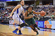 April 4, 2016; Indianapolis, Ind.; Keiahnna Engel drives past her defender in the NCAA Division II Women's Basketball National Championship game at Bankers Life Fieldhouse between UAA and Lubbock Christian. The Seawolves lost to the Lady Chaps 78-73.