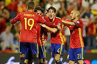 Spain's Rodrigo Moreno, Isco Alarcon, Alvaro Odriozola and David Jimenez Silva during FIFA World Cup 2018 Qualifying Round match. October 6,2017.(ALTERPHOTOS/Acero)