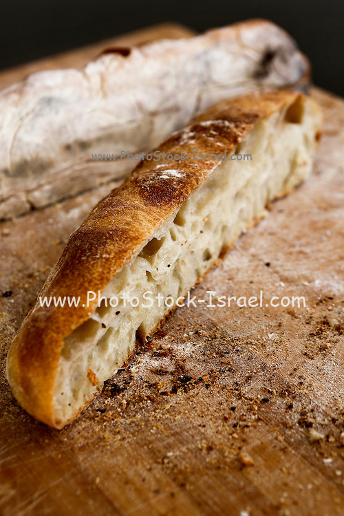 Slices of fresh baked bread