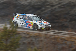 17.01.2014, Sisteron, FRA, FIA, WRC, Monte Carlo, 2. Tag, im Bild LATVALA Jari Matti / ANTTILA Miikka ( VOLKSWAGEN MOTORSPORT (DEU) / VOLKSWAGEN POLO R ) during day two of FIA Rallye Monte Carlo held near Monte Carlo, France on 2014/01/17. EXPA Pictures © 2014, PhotoCredit: EXPA/ Eibner-Pressefoto/ Neis<br /> <br /> *****ATTENTION - OUT of GER*****