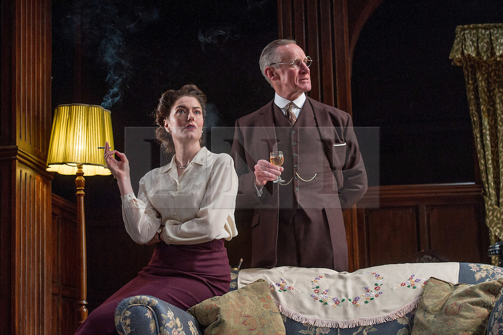 © Licensed to London News Pictures. 23/04/2012. London, UK. The Browning Version by Harold Pinter, at the Harold Pinter Theatre, London. Picture shows: Anna Chancellor (Millie Crocker-Harris) and Nicholas Farrell (Andrew Crocker-Harris). Photo credit : Tony Nandi/LNP