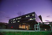 The Media Lab building at the Massachusetts Institute of Technology (MIT), Cambridge, Massachusetts.