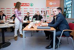 Matej Avanzo of KK Sixt Primorska at press conference before Finals of Spar Cup 2018, on January 31, 2018 in Ljubljana, Slovenia. Photo by Urban Urbanc / Sportida