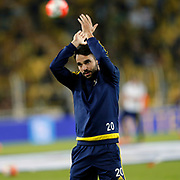 Fenerbahce's Volkan Sen during their Turkish super league soccer match Fenerbahce between Akhisar Belediye Genclik ve Spor at the Sukru Saracaoglu stadium in Istanbul Turkey on Sunday 04 October 2015. Photo by Aykut AKICI/TURKPIX