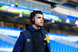 Bournemouth's Dominic Solanke prior to the match during the Premier League match at the Cardiff City Stadium.