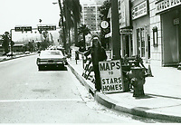1977 Seller of maps to movie star's homes