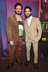 Edgar Ramirez and Darren Criss attend the screening of FX's 'The Assassination Of Gianni Versace: American Crime Story' on March 19, 2018 in Los Angeles, California. Photo by Lionel Hahn/AbacaPress.com