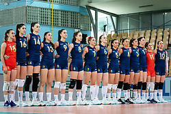 Team of Portugal during anthem before volleyball match between Slovenia and Portugal in CEV Volleyball European Silver League 2021, on 12 of June, 2021 in Dvorana Ljudski Vrt, Maribor, Slovenia. Photo by Blaž Weindorfer / Sportida