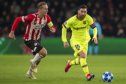 November 28, 2018 - Eindhoven, Netherlands - Lionel Messi of Barcelona and Luuk de Jong of PSV during the UEFA Champions League Group B match between PSV Eindhoven and FC Barcelona at Philips Stadium in Eindhoven, Netherlands on November 28, 2018  (Credit Image: © Andrew Surma/NurPhoto via ZUMA Press)