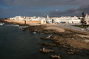 The view of Essaouira, Morocco from one of the bastions surrounding the city.
