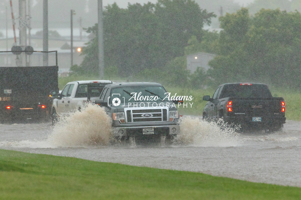 Flooding in Oklahoma City on Morgan Road between Reno Avenue and NW 10th on Thursday, June 6, 2019. Photo copyright © 2019 Alonzo J. Adams.