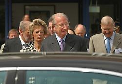 MOL, BELGIUM - MAY-17-2006 - King Albert II of Belgium visits the SCK ¥ CEN,  ( The Belgian Nuclear Research Centre ) in Mol, Belgium. (PHOTO © JOCK FISTICK)