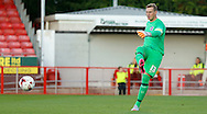 David Stockdale playing the ball out wide during the Pre-Season Friendly match between Crawley Town and Brighton and Hove Albion at the Checkatrade.com Stadium, Crawley, England on 22 July 2015. Photo by Michael Hulf.