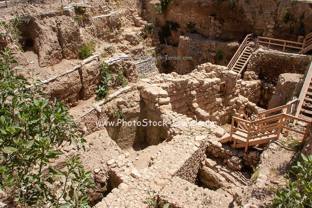 Excavations at the City of David Jerusalem, Israel