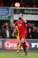 Joe McNerney of Crawley Town in action. EFL Skybet football league two match, Newport county v Crawley Town at Rodney Parade in Newport, South Wales on Saturday 1st April 2017.<br /> pic by Andrew Orchard, Andrew Orchard sports photography.