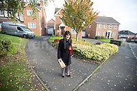 @Licensed to London News Pictures 20/11/2014. Strood, Kent, UK. Labour Party candidate Naushabah Khan out canvassing for votes on election day for the Rochester and Strood by-election in Kent today. Photo credit: Manu Palomeque/LNP