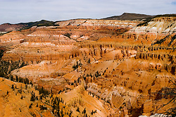 Cedar Breaks National Monument, Utah, UT, view, vista from Point Supreme, nature, landscape, erosion, arid, Image ut306-18618, Photo copyright: Lee Foster, www.fostertravel.com, lee@fostertravel.com, 510-549-2202