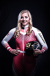 12.10.2019, Olympiahalle, Innsbruck, AUT, FIS Weltcup Ski Alpin, im Bild Katharina Gallhuber // during Outfitting of the Ski Austria Winter Collection and the official Austrian Ski Federation 2019/ 2020 Portrait Session at the Olympiahalle in Innsbruck, Austria on 2019/10/12. EXPA Pictures © 2020, PhotoCredit: EXPA/ JFK