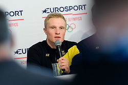 February 9, 2018 - Pyeongchang, SOUTH KOREA - 180209 Jens Burman of Sweden during a press conference with the Swedish cross country skiing skiathlon team ahead of the 2018 Winter Olympics on February 9, 2018 in Pyeongchang..Photo: Carl Sandin / BILDBYRN / kod CS / 57999_278 (Credit Image: © Carl Sandin/Bildbyran via ZUMA Press)