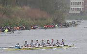 Putney. London, Dublin University at the start of the  2015  Head of the River Race. Championship Course Putney to Mortlake.  ENGLAND. <br /> <br /> Sunday   29/03/2015<br /> <br /> [Mandatory Credit; Intersport-images] .   Empacher.