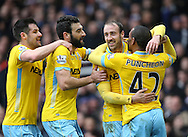 Crystal Palace's Glenn Murray celebrates his sides opening goal<br /> <br /> Barclays Premier League - West Ham United  vs Crystal Palace  - Upton Park - England - 28th February 2015 - Picture David Klein/Sportimage