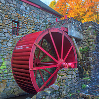 New England fall foliage colors framing the iconic red waterwheel at the Wayside Inn Grist Mill in Sudbury, Massachusetts.<br /> <br /> Massachusetts fall foliage photos are available as museum quality photo, canvas, acrylic, wood or metal prints. Wall art prints may be framed and matted to the individual liking and interior design decoration needs:<br /> <br /> https://juergen-roth.pixels.com/featured/sudbury-grist-mill-red-waterwheel-juergen-roth.html<br /> <br /> Good light and happy photo making!<br /> <br /> My best,<br /> <br /> Juergen
