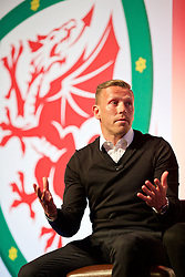 NEWPORT, WALES - Saturday, May 21, 2016: Wales Craig Bellamy during the Football Association of Wales' National Coaches Conference 2016 at the Celtic Manor Resort. (Pic by David Rawcliffe/Propaganda)