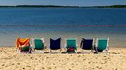 Węgorzewo, plaża w ośrodku Piękny Brzeg.