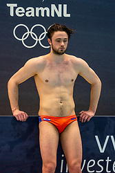 Pascal Janssen of the Netherlands disappointed against Montenegro during the Olympic qualifying tournament. The Dutch water polo players are on the hunt for a starting ticket for the Olympic Games on February 19, 2021 in Rotterdam
