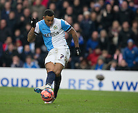 Blackburn Rovers' Joshua King scores his second and his sides third goal <br /> <br /> Photographer Stephen White/CameraSport<br /> <br /> Football - The FA Cup Fifth Round - Blackburn Rovers v Stoke City - Saturday 14th February 2015 -  Ewood Park - Blackburn<br /> <br /> © CameraSport - 43 Linden Ave. Countesthorpe. Leicester. England. LE8 5PG - Tel: +44 (0) 116 277 4147 - admin@camerasport.com - www.camerasport.com