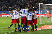 Fussball: Deutschland, 1. Bundesliga, Hamburger SV - BVB Borussia Dortmund, Hamburg, 20.11.2015<br /> <br /> Jubel vom HSV <br /> <br /> © Torsten Helmke