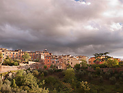 Apartment buildings on the outskirts of the medieval city of Siena, Tuscany, Italy