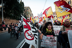 March 23, 2019 - Rome, Italy, Italy - March for the climate and against great works in Rome, to focus on the real needs of Italy and the health of the Earth. Initiative promoted by dozens of committees from all over Italy on March 23, 2019 in Rome, Italy. (Credit Image: © Andrea Ronchini/NurPhoto via ZUMA Press)